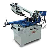 Baileigh BS-350M Dual Miter Metal Cutting Band Saw, 1-Phase 220V, 2hp Motor, 66-280 fpm Speed