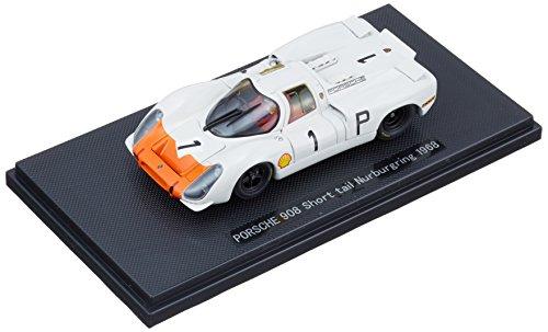 Ebbro 1/43 Porsche 908 queue courte 1968 # 1 Blanc / Orange (japon importation)
