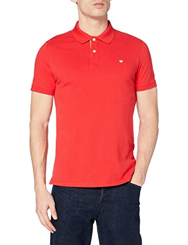 TOM TAILOR Herren Basic Polo_1016502 Poloshirt, Brilliant Red, M EU