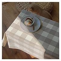 テーブルクロス テーブルクロスコットンリネン長方形の屋外のピクニック背景の家のカフェの装飾誕生日の誕生日 (Color : A, Specification : 100x100cm)