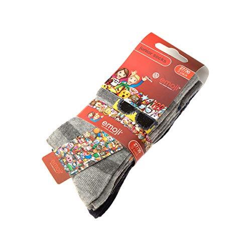 Emoji Socke über das Kalb - 3 pack - ohne Frotte - Gestreifte - Fine - Coton - Multicolore - 31/34