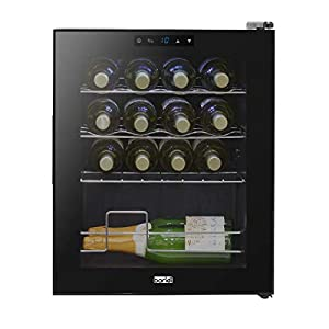 Baridi 16 Bottle Wine Cooler, Fridge, Touch Screen, LED, Low Energy A, Black