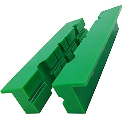 "ATLIN Vise Jaws 6"" - Nylon, Non Marring Soft Jaws - Multi-Purpose Design for Gunsmithing, Woodworking, Jewelry Making, Plumbing"