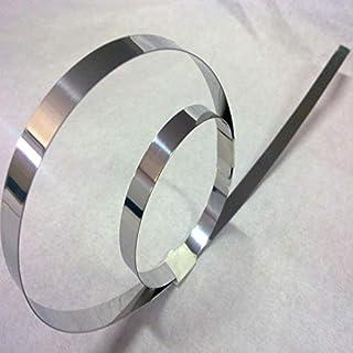 0,05 mm de Espesor 0,3 mm x 100 mm de Ancho x 1000 mm Longitud 1pc del Acero Inoxidable de 301 Hojas y Tiras de Fabricante tama/ño : 0.05x100x1000mm NO LOGO FMN-Tape
