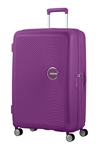 American Tourister Soundbox - Spinner Large Expandable Maleta, 77 cm, 110 Liters, Morado (Purple Orchid)