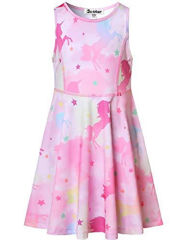 Jxstar Mädchen Sommerkleider Unicorn Outfits Ärmelless behälter-Kleid 8-9y / höhe: 53