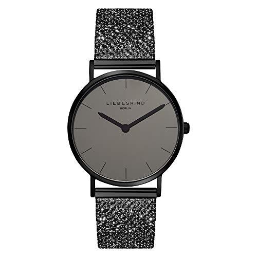 Liebeskind Berlin Damen Analog Quarz Uhr mit Edelstahl Armband LT-0218-MQ