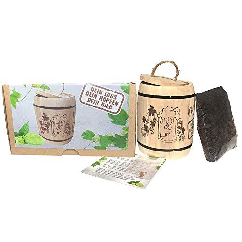KRONLY Biergeschenk Anzuchtset Hopfen Männergeschenk - Hopfenpflanze, Geschenk für Männer Gadget Vatertag