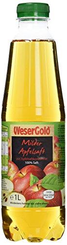 Wesergold Milder Apfelsaft PET 1 l