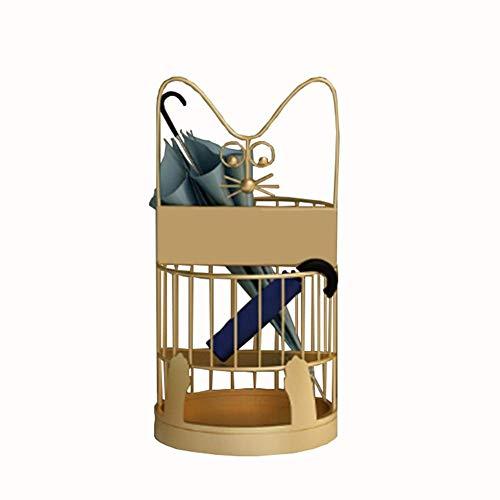 MUMUMI Soporte Paraguas, Paraguas de Pie, Hierro Forjado, Diseño de Dos Capas para Alenar Paraguas Largas Y Cortas, Paraguas Domésticas Paraguas Cu Paraguas Bastidor de Alenamiento,B,30X60Cm