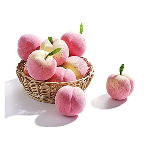 KJBGS Fruta Artificial 1/5/6 / 10PCS Melocotón Artificial Falso Fake Fruits y Verduras Bayas Flores para la decoración del hogar Tienda FOTURY BUTS Limpio y Hermoso (Color : 5pcs)