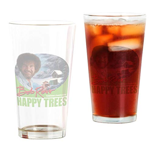 CafePress - Bob Ross Drinking Glass - Pint Glass, 16 oz. Drinking Glass by CafePress