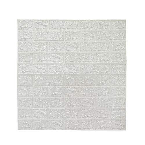 Fanville 3D Foam Brick Wallpaper Faux Foam Bricks Wandpaneele Peel and Stick Wallpaper für Wohnzimmer Schlafzimmer Hintergrund Wanddekoration