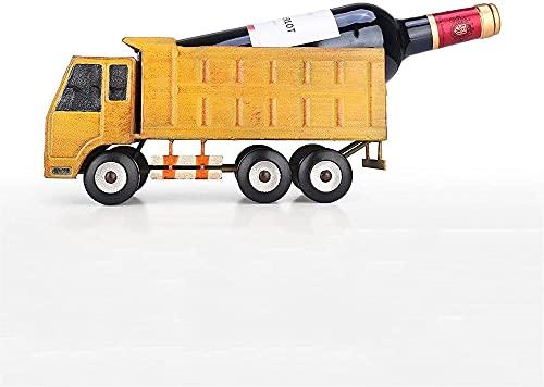 SCYMYBH Estante de Vino Camión de camioneta de Moda Vintage Estante de Vino Freestanding Truck Titular de Vino Figurilla Larga Titular de la Botella de Vino Tenedor de Vino