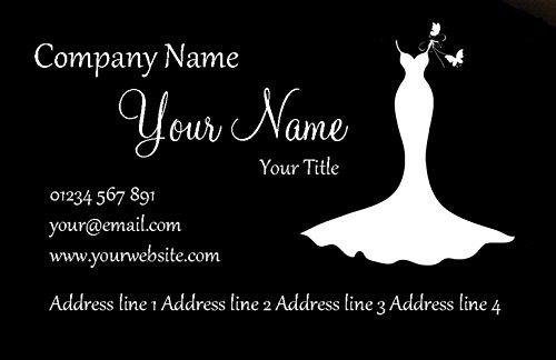Zwarte en witte bruidsjurk gepersonaliseerde visitekaartjes 5000 CARDS