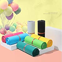 SHUOYUE 50个/たくさんのカラフルなトートバッグエクスプレスバッグクーリエバッグセルフシール接着剤の厚い防水プラスチックポリ封筒メーリングバッグ (Color : 01, Size : 17x30cm)