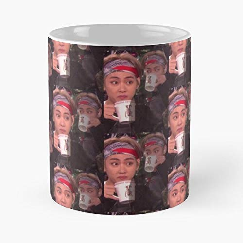 Bangtan Taehyung Bts Kim V - Best 11 Ounce Ceramic Mug - Classic Mug for Coffee, Tea, Chocolate or Latte
