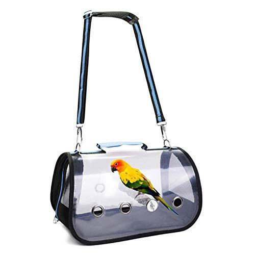 Bird Carrier, Pet Vogelträger mit Holzständer Vogelrucksack und atmungsaktivem Vogelreisekäfig Transporttasche für Vogelkäfige, Papageien, Nymphensittiche, Quäker, Quaken, Mini-Aras, kleine Kakadus,