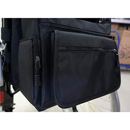 YUXINCAI Rollstuhlrucksack Tasche Rollstuhl Und Walker Zubehör Seitliche Aufbewahrungstaschen Walker Mobilitätshilfen Wasserdichter Hängetasche Zubehör