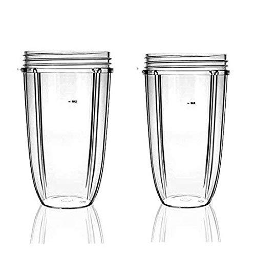 24 oz Ersatzteile Becher Kleine Tasse 2pc Becher Entsafter Zubehör für Nutribullet 600 und 900 Watt Blender