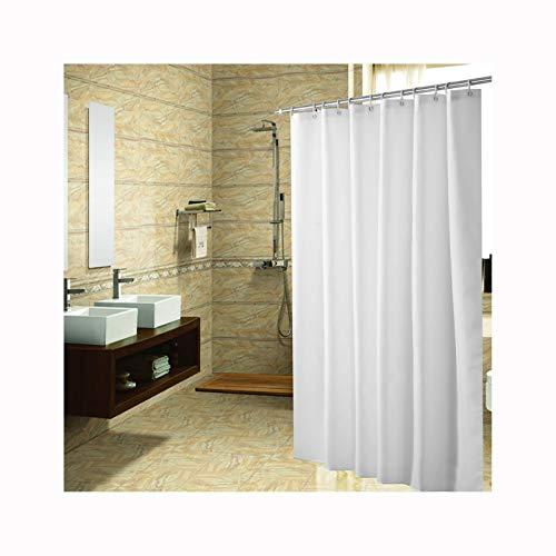 Daesar Polyester-Stoff Vintage Duschvorhang 100x180 Weiß Anti-Schimmel Duschvorhang