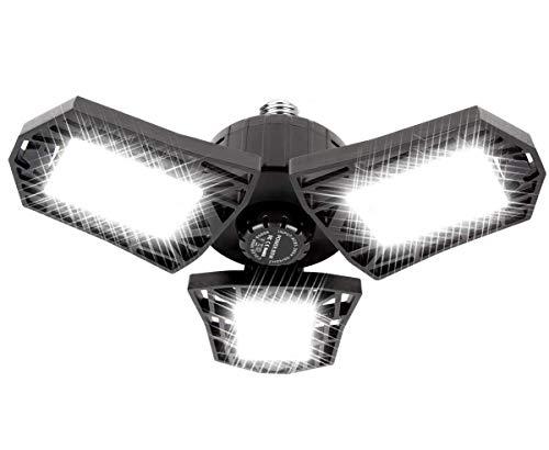 LED Garage Light - 6000 Lumen 6500K Daylight 60W, Three Leaf Led Garage Ceiling Lights
