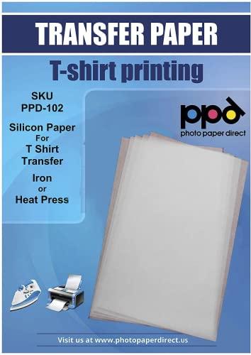 PPD Inkjet A4 10 Hojas de Silicona para Papel de Transferencia - Plancha o Máquina de Prensado de Calor y Todas Marcas de Papel Transfer - PPD-102-10