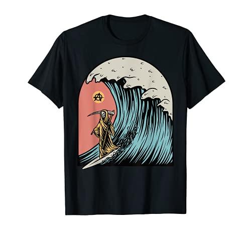 Disfraz de Halloween de Anarquista de Superiores de Aspecto Surfero Camiseta