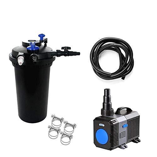 Pondlife CPF-15000 Set 4 Druckteichfilter mit integrierter UVC-Einheit 18 Watt für Teiche bis 30000 Liter Teichfilter Druckfilter Bachlauf