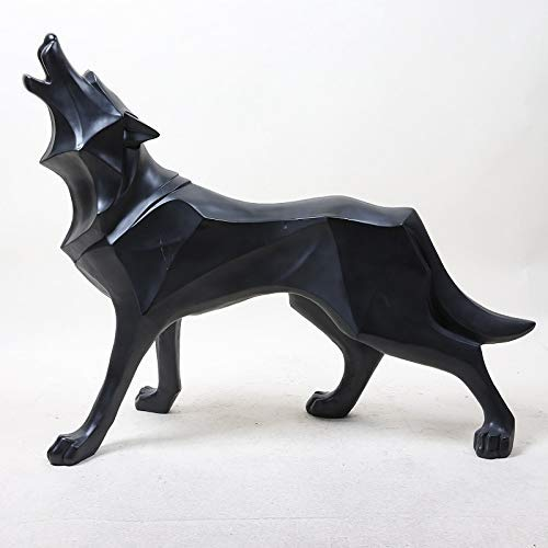 WSJ Statue Garten Ornament Kunsthandwerk Gartenmöbel Dekoration , Stil Harz Handwerk Wolf Totem Home Kreative Geschenke Künstliche Tiere