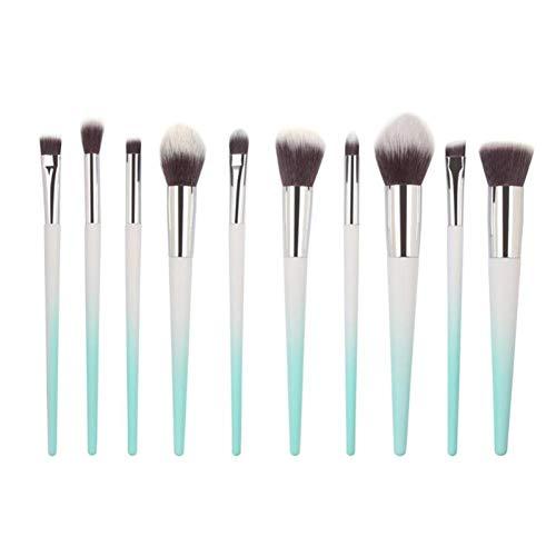 WWLZ Outils de beauté 10 pièces/Ensemble Miroir brosses cosmétiques kit de Maquillage de Brosse à paupières dégradé Laser