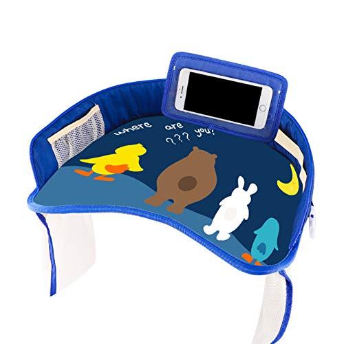 Wollaston Auto Baby Cartoon Sicherheitssitzablage Tragbarer Cartoon Wasserdichter Halter für Kinder Toy Food Drink Table,Car Baby Cartoon Safety Seat Tray Portable Cartoon Waterproof Holder