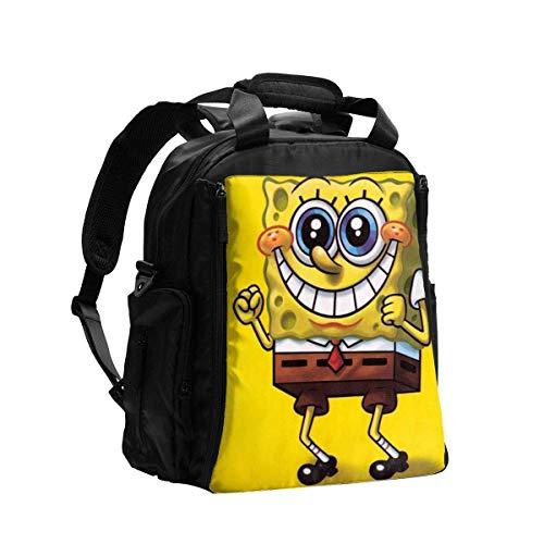 Martha Lattimore Bolsa de pañales Mochila Spongebob Squarepants Mochila de viaje multifunción Bolsa de hombro Bolsa de maternidad para pañales con cambiador