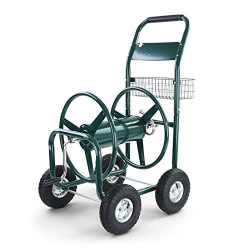 RAMROXX 34170 Schlauchwagen Schlauch Handwagen mit Handkurbel Grün bis 106m Gartenschlauch