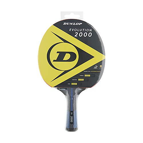 Dunlop Evolution 2000 - Raqueta de Ping Pong (Certificado ITTF), Jugadores avanzados