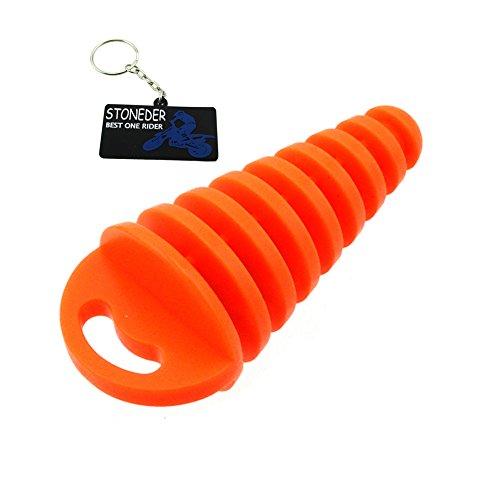 STONEDER Orange Schalldämpferwaschstopfen für 2-Takt-ATV-Mofas Yamaha Honda 80 125 250