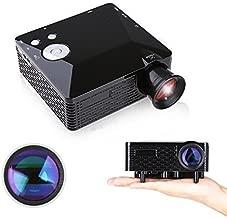 Home Theater Projector, 80'' Multi-media Portable Mini LED Projector for Home Cinema Video Games Family Entertainment with HDMI USB SD AV VGA Port - Black