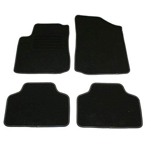 DBS - Alfombrillas de Coche/Automóvil - 4 Unidades : Delanteras + Traseras - Semi Medida - 14 Marcas - Antideslizantes