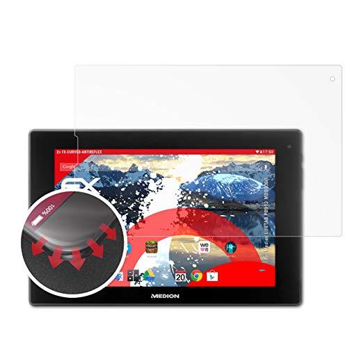 atFolix Schutzfolie kompatibel mit Medion LIFETAB P8912 MD99066 Folie, entspiegelnde & Flexible FX Bildschirmschutzfolie (2X)