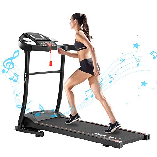 Purchase HQ-QILI Fold up Running Machine, Smart Electric Foldable Treadmill with Multifunctional Pan...