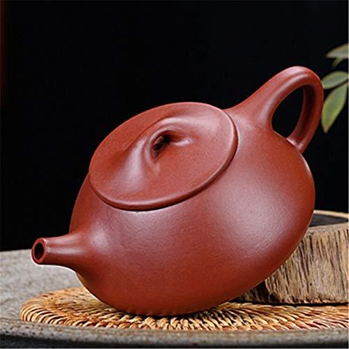 WUJIEXIAN-JI Tetera China Regalo del té Tetera Manual de Mineral de la Tetera Famosa Gema roja Grande de la Cucharada Olla de té púrpura cervecera té a Granel (Color : Claret)