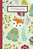 Notebook: Woodland Fox Notebook/Journal for Writing Notes, Poetry, Ideas, and Short Stories for girls and young women