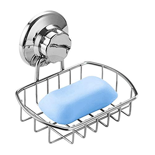 iPEGTOP - Portasapone con Ventosa sottovuoto, per Doccia, Bagno, Vasca e lavandino, in Acciaio Inox antiruggine