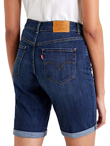 Levis® Damen Jeans Short Classic Bermuda - Blau W23-W36 60% Baumwolle Damenshort Bermudashort, Größe:W 26, Farbe:Blue ST (0046)