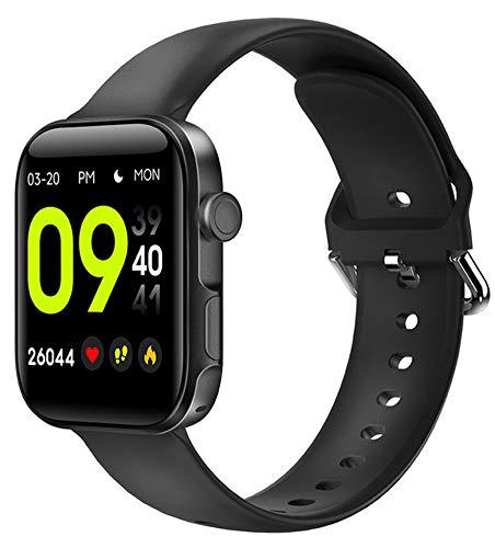 YGMDSL Reloj Inteligente 1.54 Pulgadas Pantalla Grande Llamada Bluetooth Compatible con iOS Android Pulsera Inteligente Reloj De Pulsera Inteligente Reloj Deportivo (Black)