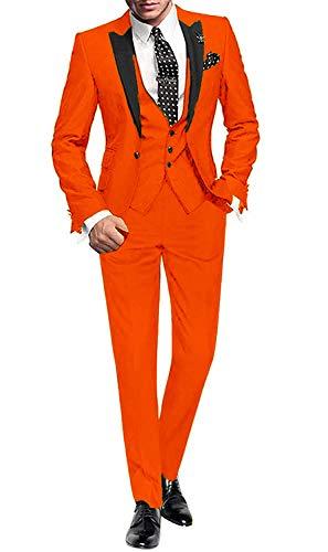 YYI Männer Anzug Slim Fit 3-teilige Formale Business-Jacke Weste Anzughose