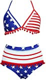 Childlike Me American Flag Bikini USA Flag Swimsuits for Women July 4th Patriotic Sexy Swimsuit Bathing Suits Sexy Flag Large