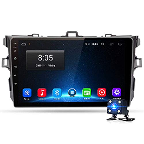 KLL Reproductor de Video Multimedia 10.1 Pulgadas Navegador GPS para Coche Radio 4G RAM 64G ROM CKLLaacute;Mara de Marcha AtrKLLaacute;s Enlace Espejo Ajuste para Corolla E140 E150 2006-2013