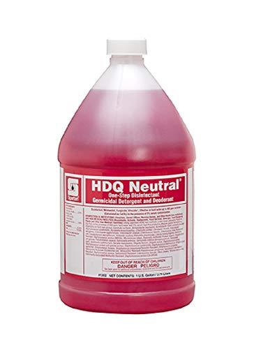 Spartan HDQ Neutral Disinfectant Detergent, Gallons, 4 Gallons Per Case