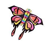 AWCPP Kites de Mariposa, Kites Adultos Coloridos Tres-Dimensional Brisa Al Aire Libre Fácil de Volar Cometas para Principiantes Bebé Vuelo Juguete, 200 * 155 cm,B